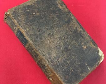 1852 Bible, Lancaster County Pennsylvania Dutch New Testament. Amish Mennonite, German language. Antique book, leather binding letterpress