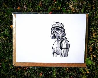 Stormtrooper Greetings Card