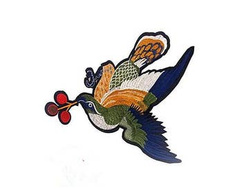 bird patch embroidered patch iron on patch sew on patch gucci patch