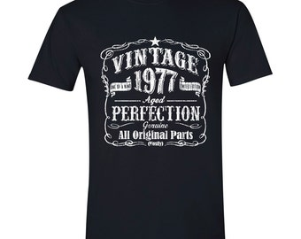 40th Birthday, 1977 Shirt, 1977 Legend. Men's T-Shirt, 40th Birthday Gift, 40th Birthday Idea, 40 Birthday Present, 40 Birthday BLACK 1977