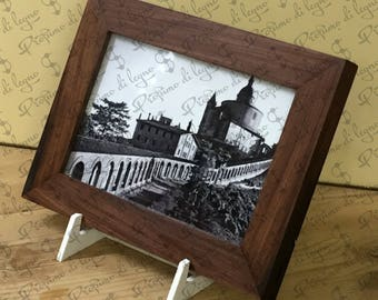Rosewood wall frame/olive/photo size 10 x 15 cm-natural padouk