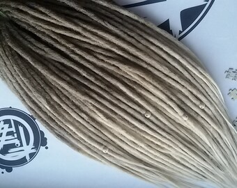 OMBRE SYNTHETIC DREADS full set double ended dreadlocks. Soft dreadlocks. Natural texture.
