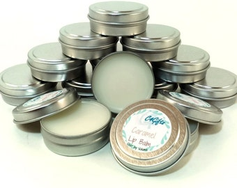Caramel Lip Balm - Unsweetened - Natural Lip Balm, Beeswax Lip Balm, Lip Balm Tin, Flavored Lip Balm - Preservative, Dye Free