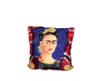 Frida pillow case, Frida Kahlo,Mexican decor, decorative pillow,Frida cushion,Decorative cushion,Loteria,Deay of the dead,Frida pillow