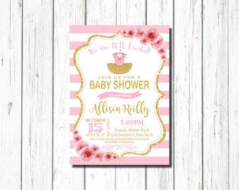 tutu baby shower invitation for girl pink hot pink tutu baby shower invitations