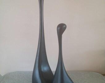 Minimalist Sculptures | Louise Hederstrom, Unique Mother and Child, Mid Century, Set of 2, Swedish design,