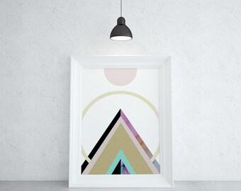 Art Print Geometric Art Mountain Print Geometric Print Mountain Wall Art Prints Posters and Prints Geometric Print
