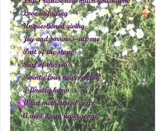 Bespoke Mother's Day Poem