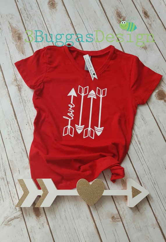 Girls Valentine shirt/Love & arrows/Pretty Valentine top/Girl Valentines Day/Valentines outfit/mommy and me valentines/xoxo shirt/cute vday