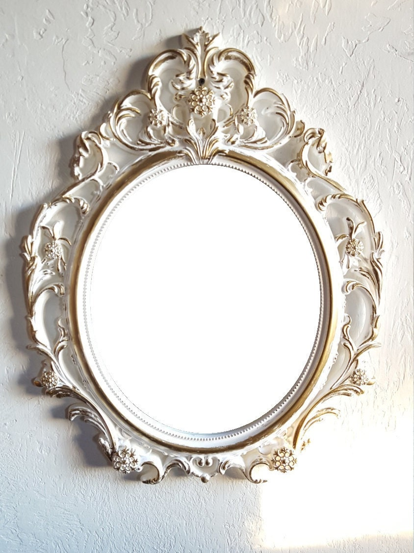 Sale large white gold wall mirror ornate mirrors baroque for White and gold mirror