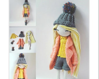Bridgette - Crochet doll pattern