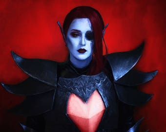 Undertale Undyne the Undying Cosplay Costume with lights