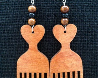 Afro Comb Earrings