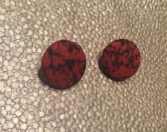 Red Edgy Earrings