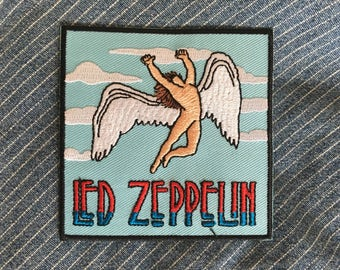 "Led Zeppelin (Icarus) iron-on embroidered patch, aprox. 3"" x 3"""