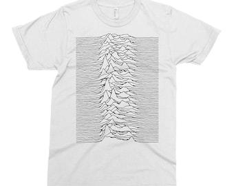 Joy Division B - Unknown Pleasures T-shirt, Tee, American Apparel, Music, Rock, Retro, Ian Curtis, Punk, , Cute Gift