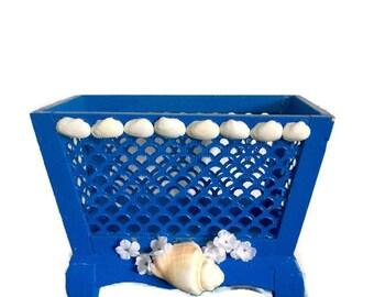 Wedding program holder, Wedding Program box, Wedding basket, Beach wedding decor, Program basket, Wedding favor basket, Coastal wedding