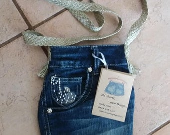 Ultimate Pocket Purse  - Recyled Jeans