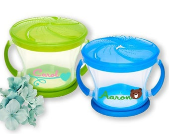 Personalized Snack cup- snack container- Daycare Labels -Kids snack Cup-