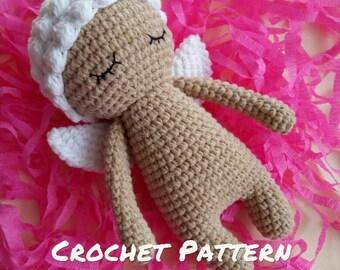 Crochet PATTERN: Angel Doll Amigurumi, Stuffed Angel Doll Pattern