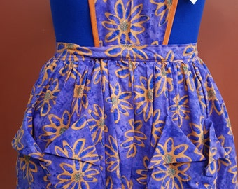 Orange Flowered Apron