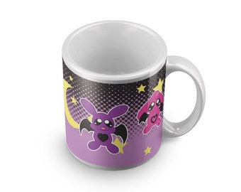BunnyBat mug visual kei pastle goth rabbit cup