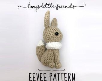 Crochet Pattern Eevee Pokemon amigurumi pdf