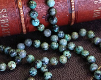African Turquoise Jasper Beaded Necklace