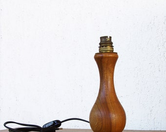 Table lamp, lamp base, wooden lamp base, table lamp vintage, wooden lamp, wooden home decor, living room lamp