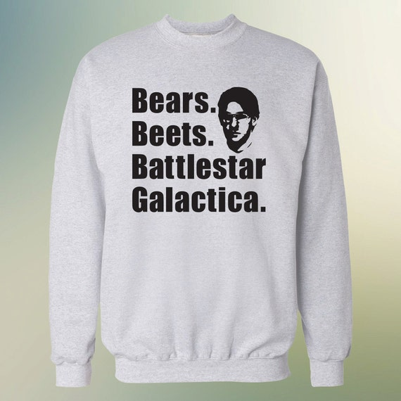 """The Office TV Show """"Bears Beets Battlestar Galactica"""" Sweater S-4XL Available"""