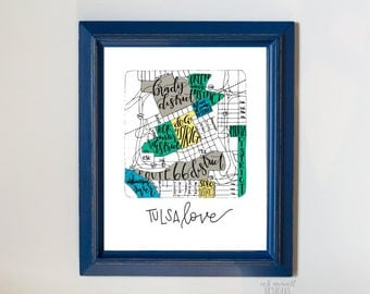 "DIGITAL Hand-Lettered ""Tulsa Love"" Print"