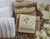 Lemongrass & Sage Soap, Natural Soap, Handcrafted Soap, Natural Bar Soap, Essential Oil Soap