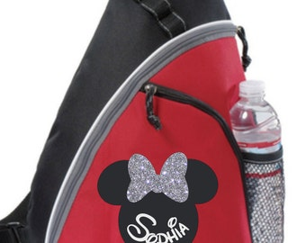 Minnie or Mickey Personalized bag, Minnie Backpack, Disney Trip Kids backpack, Family Vacation Minnie Bag