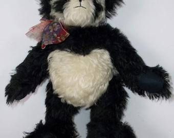 Bonnie Foster Handmade Teddy Panda Bear Very Collectible Mohair