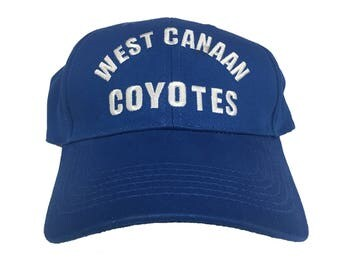West Canaan Coyotes Baseball Cap As Worn In Varsity Blues Movie By Lance Harbor Hat Moxon Football Team Player Costume Gift Adult Blue