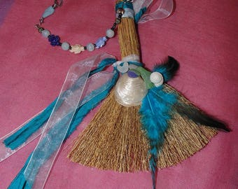 Mini Besom, Mini Sea Witch Besom, Altar Besom, Witches Broom, Witches Besom, Sea Witchery, Ritual Besom, Witchcraft, Brooms, Besoms,SeaGlass