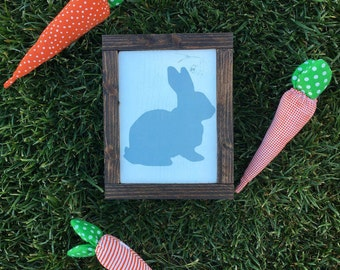 Easter Bunny sign bunny sign farmhouse rabbit rustic wood painted sign holiday decor home decor