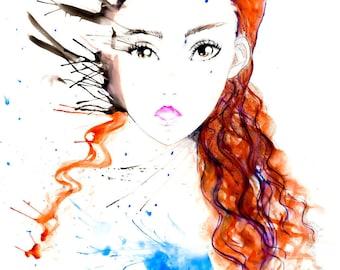 Manga drawing,Stampa, painting illustration, watercolor illustration, download illustration, print, manga illustration, Disegno manga