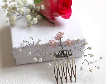 Bridesmaid hair comb, wedding hair comb, Swarovski hair comb, bridesmaid hair piece, bridal hair comb, bridal hair accessories, bridal hair