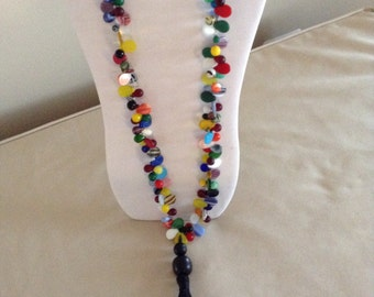 Vintage Colorful Mali Wedding Bead Necklace