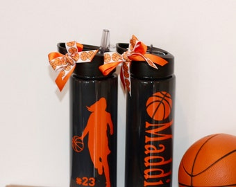 Personalized Basketball Water Bottle Girls