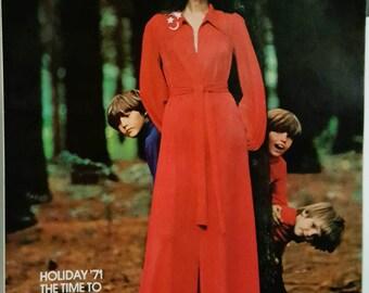 December 1971/January 1972 Vogue Pattern Magazine ReTrO GrOOvy!