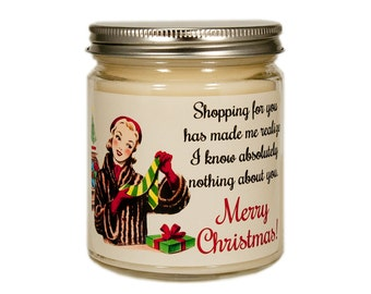 Christmas Candle, Holiday Candle, Scented Candle, Christmas Gift, Container Candle, Soy Candle, Funny Christmas Candle, Christmas Decor