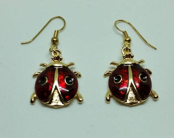 Ladybug Earrings jewelry FREE SHIPPING