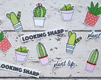 Cute Cactus Stickers – Set Of 24