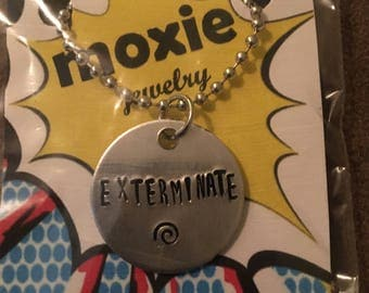Exterminate necklace or keyring Dr. Who