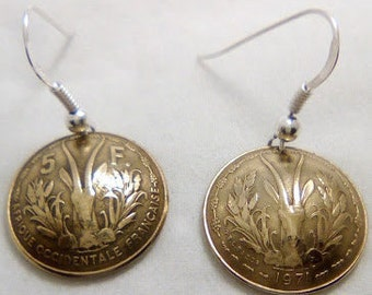 Earrings 5 francs of French West Africa