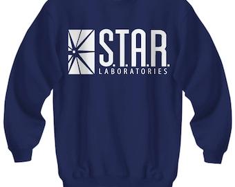 Star Laboratories Sweatshirt , Star Labs Sweatshirt , The Flash Sweatshirt , Crew Neck , Crewneck , Pullover , S - 4XL   7 Colours