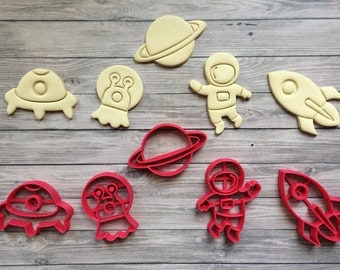 Outer Space Cookie Cutter 3d Printed / Astronaut / Alien / Space Ship / Rocket / Planet / Galaxy / NASA/ Space / Birthday / Party