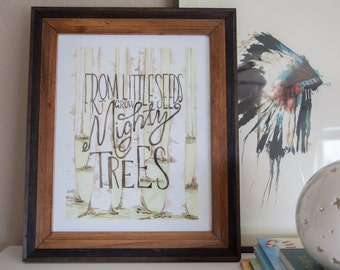MIGHTY TREES art print for baby nurseries, children rooms, and beyond!